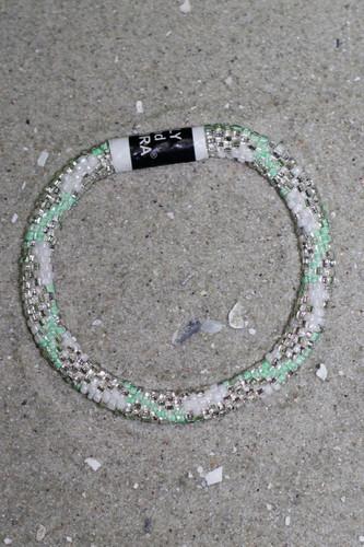 Lily & Laura Bracelet: Mint/Silver/White