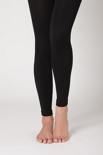 Fleece Lined Leggings: Black