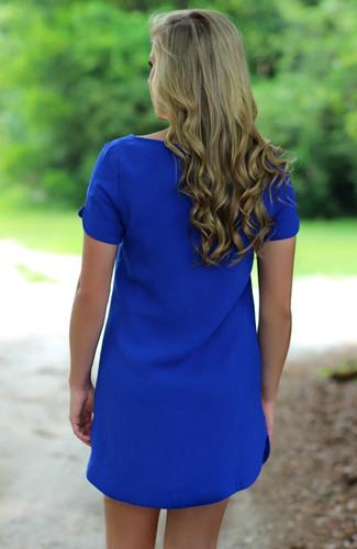 Royal | Shift Dress | Boutique Dress | Lavish Boutique