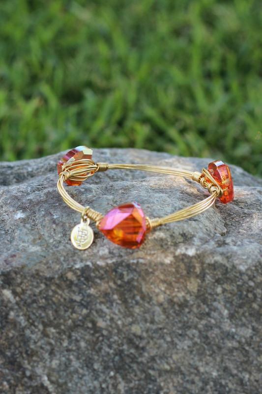Bourbon and Boweties Bangle: Tangerine Stone