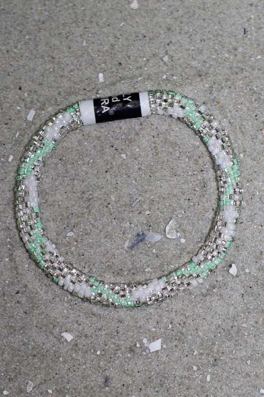 Lily & Laura Bracelet: Mint/Silver/White