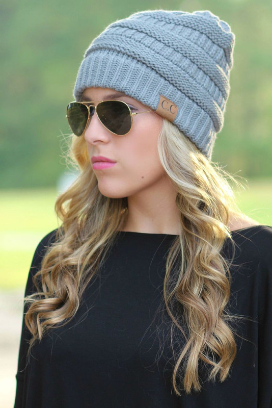 Chilly Day Beanie: Grey