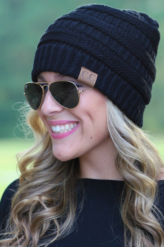 Chilly Day Beanie: Black