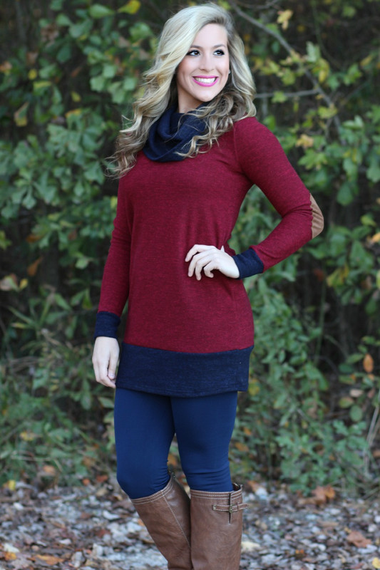 Take A Hit Tunic: Burgundy