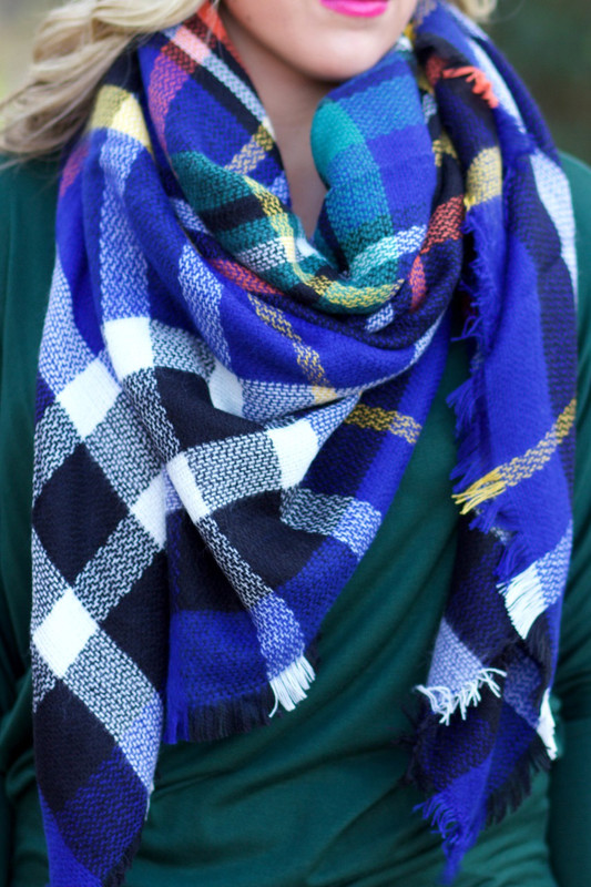 Time & Time Again Blanket Scarf: Royal