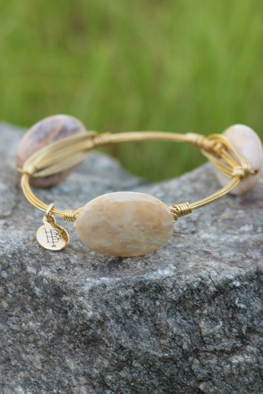 Bourbon And Boweties: Neutral Stone Bangle