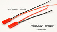Amass BEC w/leads 20AWG 10cm (Five pairs)