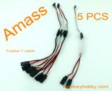 AMASS 30cm 22AWG Futaba Y leads, flat wire AM-3001-5 (5pcs/bag)