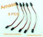 AMASS 15cm 22# Futaba extension wire, female with hook AM-2001H-1 (5pcs/bag)