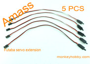 AMASS 30cm 22# Futaba extension wire, female with hook AM-2001H-2 (5pcs/bag)