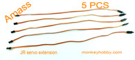 Amass 45cm 22# JR extension wire, female with hook AM-2002H-3 (5pcs/bag)