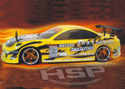 HSP 94123 Yellow 2.4Ghz Flying Fish Electric Drift Road 1/10 Scale RC Car, Body:12363-Y