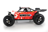 HIMOTO Barren 1:18 SCALE RTR 4WD ELECTRIC POWER DESERT BUGGY W/2.4G REMOTE BRUSHLESS VERSION Red 28671N