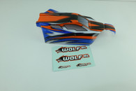 DHK 8133-001 Printed body (PVC body) for WOLF BL 8131, 8133 1/10 Scale