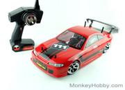 RED CAT /BSD 1/10 BS204T Drift car with Pro setup, Belt driven  Red S15 drift king