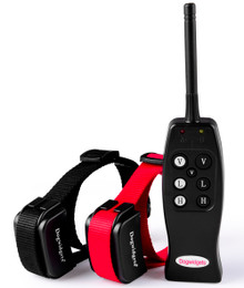 Dogwidgets DW-1 Rechargeable 2 Dog Training Shock Collar with individual vibration