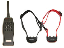 Dogwidgets DW-4 Rechargeable Remote 2 Dog Training Collar with 3 levels of vibration - No shock