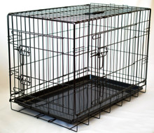 "Collapsable Double Door Dog Crate Medium Size  30""(L)x19""(W)x22""(H)"