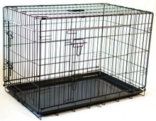 "Collapsable Double Door Dog Crate Large Size 36""(L)X23'(W)X""26""(H)"
