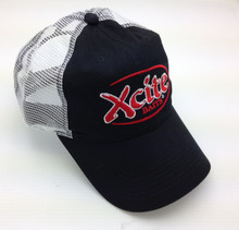 Black with White Mesh Hat