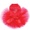 Patriotic Heart # 1 red dog tutu for large and small dogs.