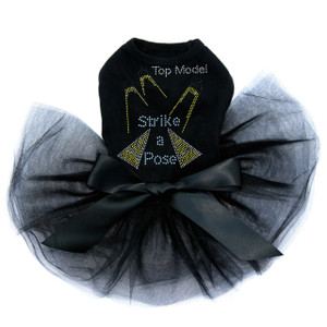 Top Model - Strike a Pose rhinestone dog tutu for large and small dogs.