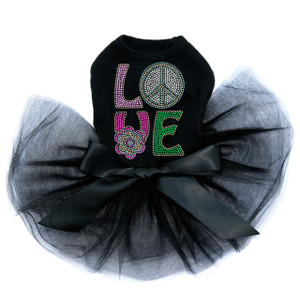 Love with Peace Sign & Flower Tutu