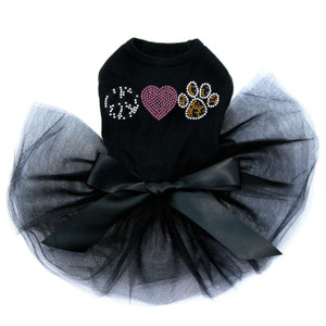 Peace, Love, Paw ( Animal Print) Tutu
