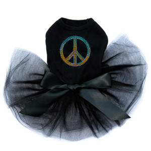 Peace Sign (Blue, Orange, Yellow, & Green) Tutu