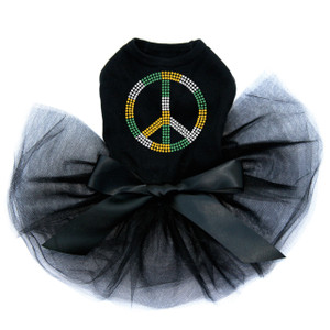 Peace Sign (Green, Gold, & Clear) Tutu