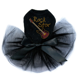 Rock Star with Red & Gold Guitar Tutu