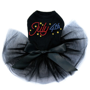 July 4th Rhinestone dog tutu for large and small dogs.