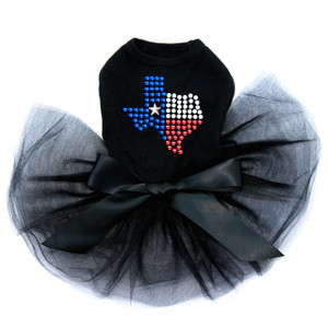 Texas Rhinestones dog tutu for large and small dogs.