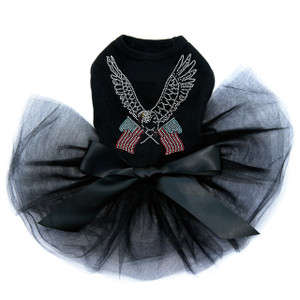 Eagle with Flags Rhinestones dog tutu for large and small dogs.