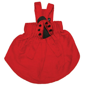 Our red silk dress is a dress for all occassions.  Dress comes with choice of one attachment with additional attachments sold separately.  Please choose from Holly, Heart, Lady Bug or Cherry attachments.