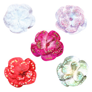 Additional Velvet Flower Pins for Tutus