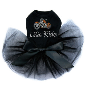 Live - Ride - Orange Motorcycle Tutu