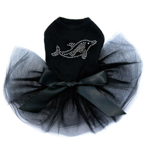 Dolphin - Rhinestone  Tutu for big and small dogs