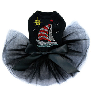 Sailboat - Rhinestone & Nailhead  Tutu for big and small dogs