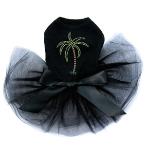 Palm Tree - Green Rhinestones Tutu for big and small dogs