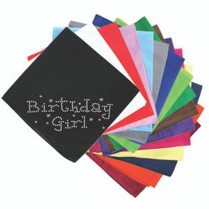 Birthday Girl with Stars - Bandanna