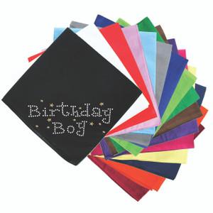 Birthday Boy with Gold Stars - Bandanna