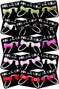 Silk hair clips with rhinestones designed to coordinate with our Harness Vests, Dresses and Coats.  All hair clips are on French barretts.