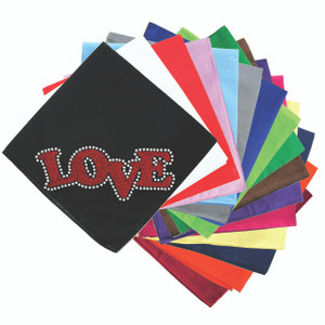 Love (Red Glitter) Bandanna