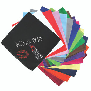 Kiss Me with Lips and Lipstick - Bandanna