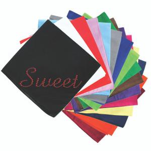 Sweet (Red Rhinestuds) - Bandanna