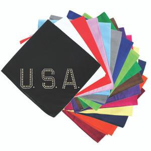 USA - Gold & Silver Nailheads - Bandanna