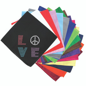 Love with Peace Sign Bandanna