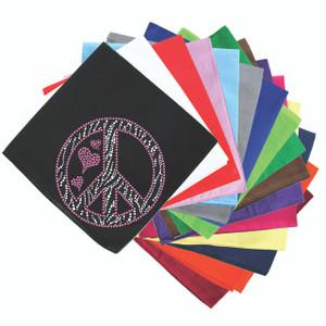 Peace Sign (Pink & Zebra Print) - Bandanna