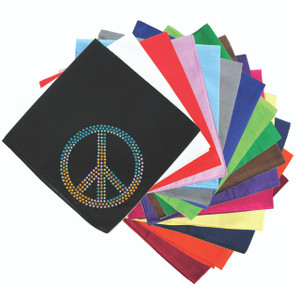 Peace Sign (Blue, Orange, Yellow, & Green) - Bandanna